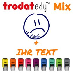 TRODAT edy - Mix (TRODAT edy - Mix - Smiley traurig)